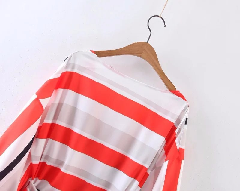 K2307A Sexy New Fashion Summer V neck Chiffon Long Sleeve Woman Blouse