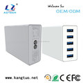 certificated 60 Watt 5 ports usb charger wall for mobile phone, iPad, tablets