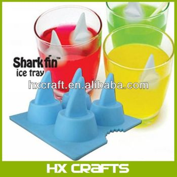 Funny Shark Fin Ice Cube Tray 4-tray Eco-friendly Silicone Ice Mould