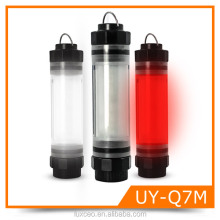 SOS Red Water proof Anti Shock IP68 Rechargeable 18650 Li ion Battery Outdoor Emergency LED Lamp Light Stick Camping Lights