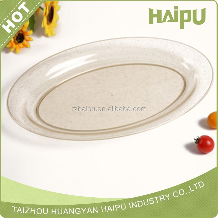 plastic food serving oval tray
