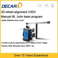 DECAR 4 wheel alignment system with John bean wheel aligner software