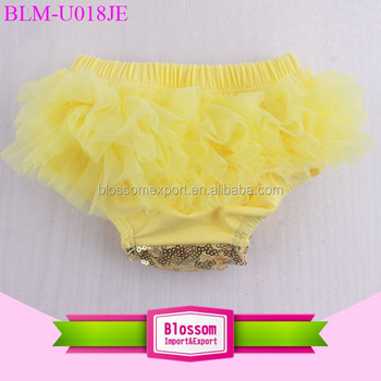 Girl shorts boutique wholesale bloomer sweet shiny panties spandex diaper cover sparkle baby boys sequin bloomers with chiffon
