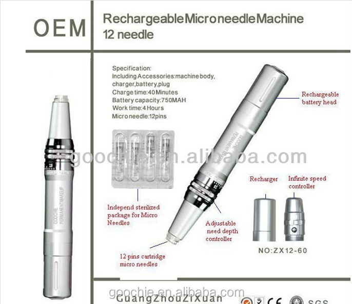 Goochie Electric Microneedle Pen for Skin Care (ZX12-36)