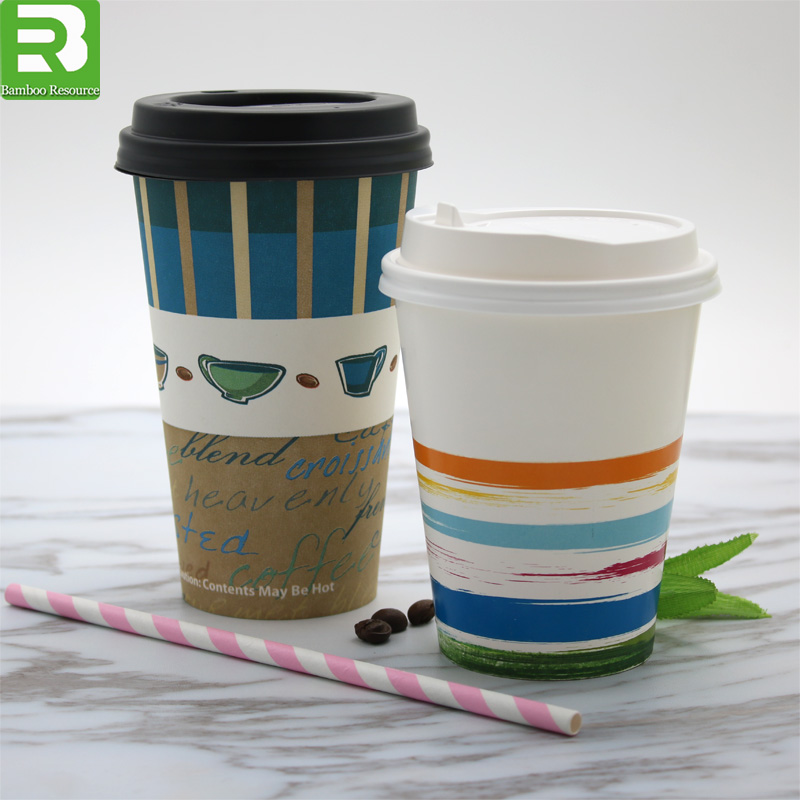 Hot drink and cold drink coffee paper cup container