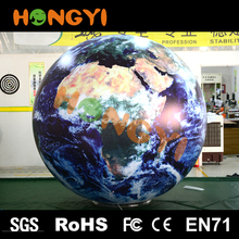 Custom inflatable globe ball Hand holding advertising promotions helium balloon can Print different patterns Quality assurance