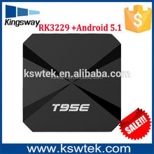 2017 T95E PRO RK3229 tv box mini pc fan Android 5.1 1G Ram 8G Rom 4 USB TV Box full hd 1080p android tv box support 4k
