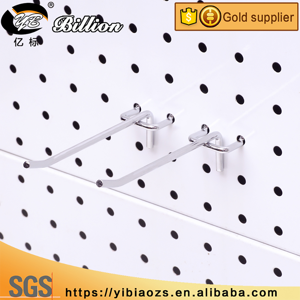 China manufactory single peg board hooks metal pegboard hook