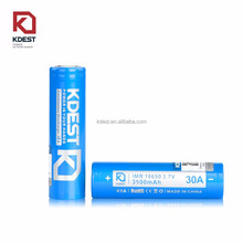 China wholesale Authentic Battery High Rate 30A 18650 Battery Li ion Battery For Vape