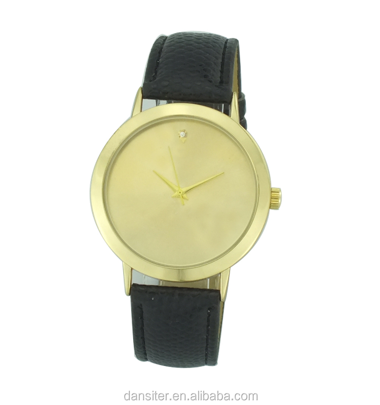 China Factory MOQ 500Pcs Minimalist Wholesale Cheap Gold Leather Watch