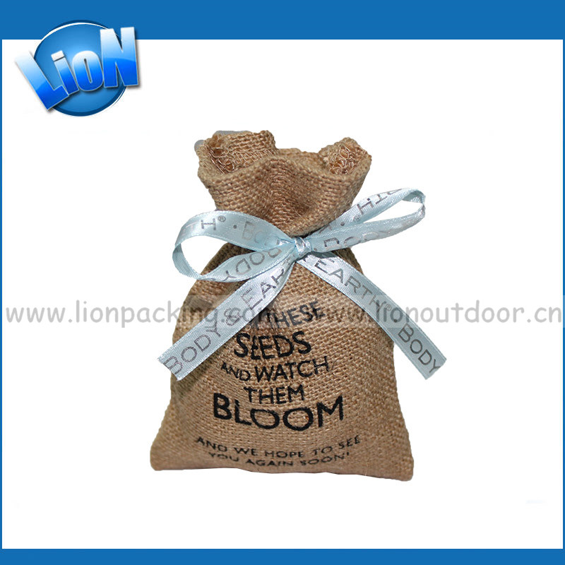 Custom printed Wedding/Birthday party balloon gift bags Design unique twill large jute pouch sack