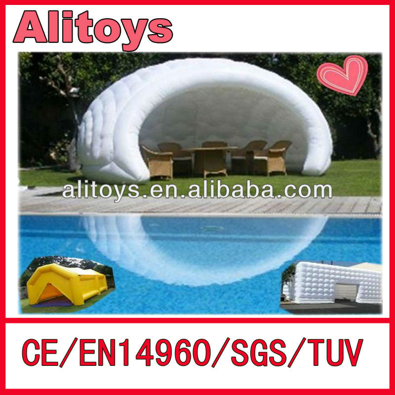 big white clear inflatable lawn tent bubble tent