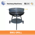 Colorful charcoal barbecue grills Two wheels Trolley bbq grill