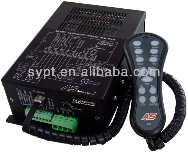 400w electronic remote control police siren : AS900