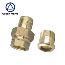 Gutentop China high quality supplier copper bathroom fitting double nipple brass forged fitting 15mm