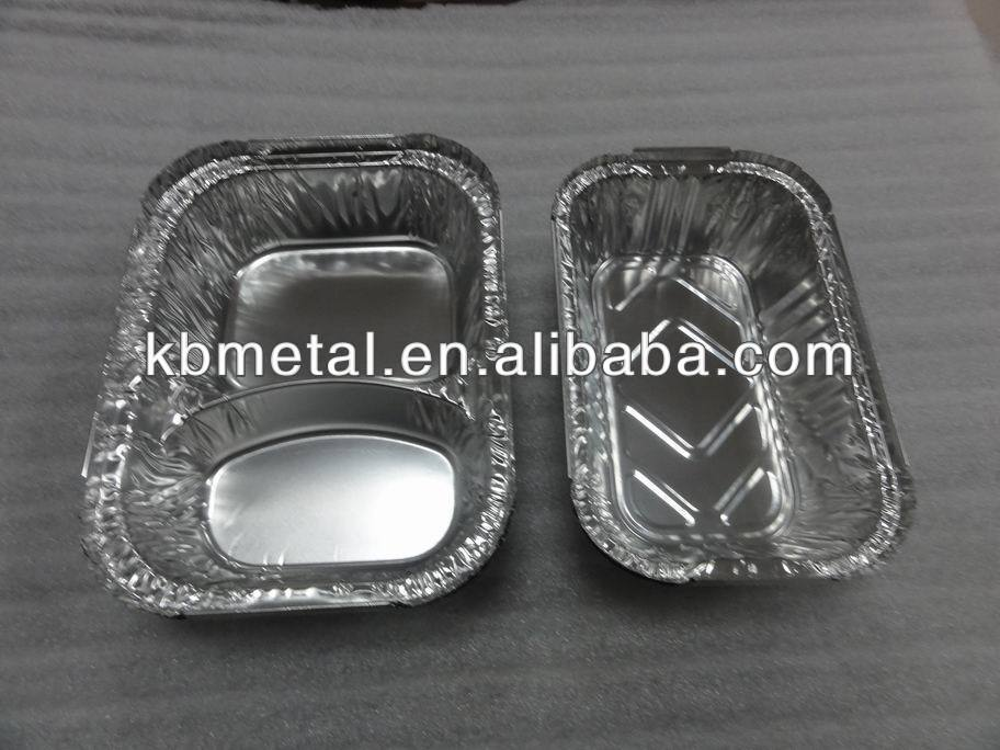 kb silver color aluminum foil container