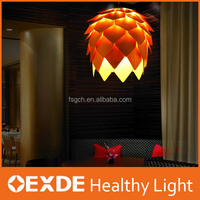 Ceiling Cage Pendant Light DIY Brown Pine Cones Hanging Light Lmap Shade for Christmas Living Room, Dining room Decor Light