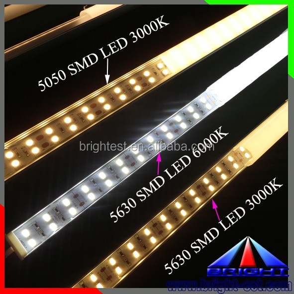 Shenzhen SMD3528 SMD5050 SMD2835 SMD5630 SMD4014 SMD2216 led light bar, 28w/m 2700k warm white led bar light