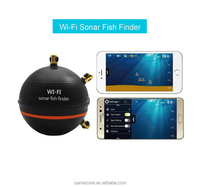 Upgrade menu Rechargeable Waterpoof Wireless Fishfinder Sensor 125KHz Sonar Echo Sounder