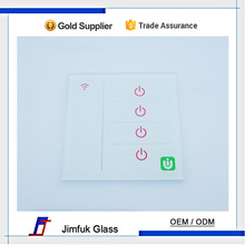 smart glass tempered wifi control wall switch glass plates