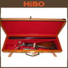 Oak and Genuine leather high-end gun case with solid brass corner 2014 manufacturer