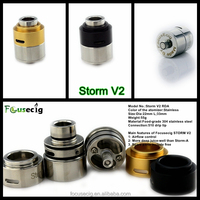 The most popular e cigarette rebuildable drip atomizer Storm V2 RDA Ego Ce4