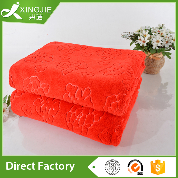 microfiber red towel gift packing ideas for wedding