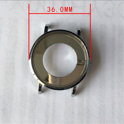 high quality watch case, 36mm stainless steel case, factory price