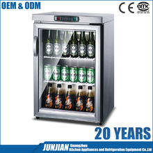 Guangzhou manufacture 90L beer open display refrigerator beer bottle display fridge