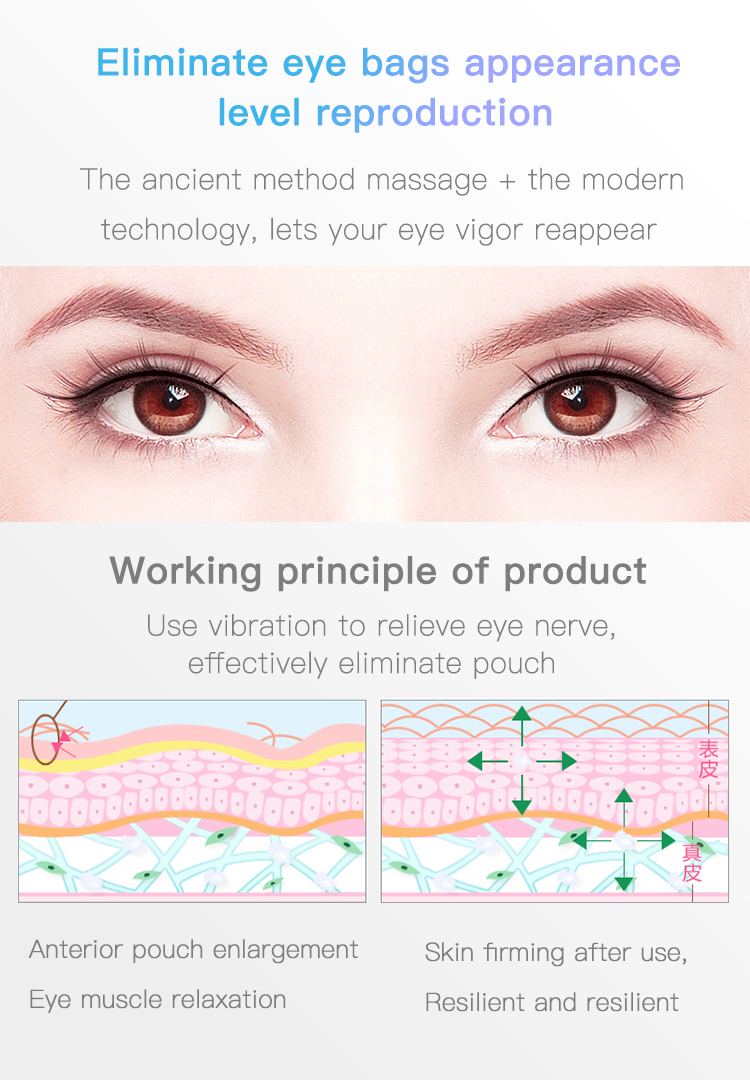 Newest product eye care anti-wrinkle eye care massage protector acupuncture vibrating eye massager