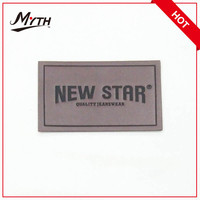 Garment Leather Label with Hot Stamping