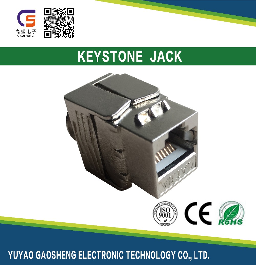2017 Promotion Chinese Supplier Tool Less High Performance Reliable Cat6A Rj45 STP FTP Female Modular Keystone Jack