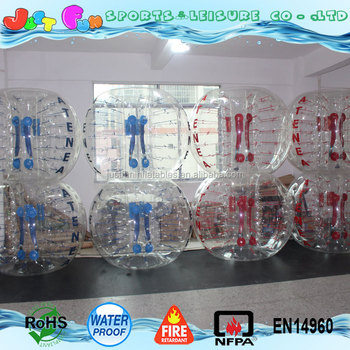 clear human inflatable bumper ball for adults