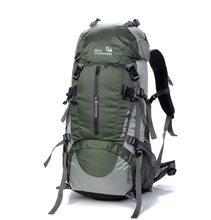 Unisex tactical camping hiking backpack sports Mountaineering with Rain Cover