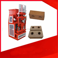 HR2-10 Eco interlocking manual brick machine price/2015 newest clay block making machine for sale