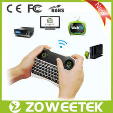 Rubber Wireless Keyboard And Mouse Combo For Android Stick