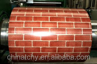 High Quality PE Prepainted Aluminum Sheet Panel Coil Brick Texture for Wall Decoration
