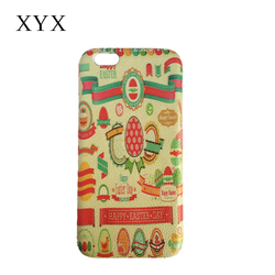 discount activity!back PU leather back cover case for samsung galaxy j7 with varicoloured easter bunny on PC surface