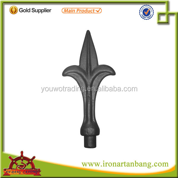 wrought iron spearhead/ cast iron fittings/ cast steel railing parts