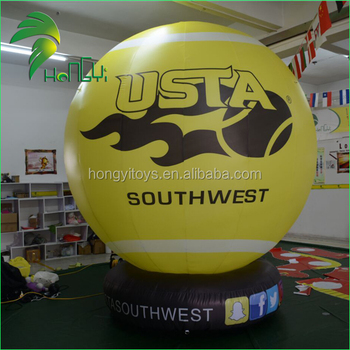 Giant Yellow Helium Floating Balloons / Advertising Helium Balloon With Base