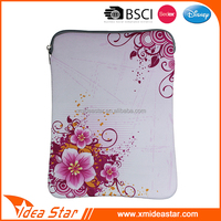 Custom white flower printed neoprene bag cheap case for ipad air