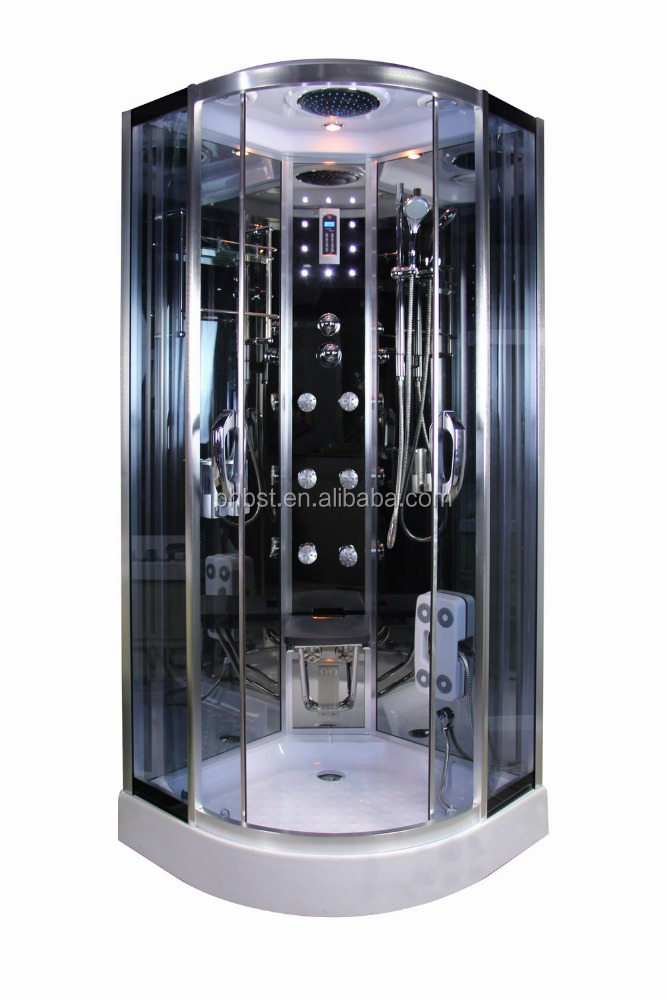 Luxury steam shower cabin sauna room with body massage