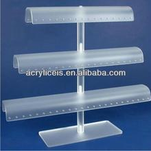 Weitu brand wholesale acrylic display stand custom clear acrylic T-bar for jewelry showcases