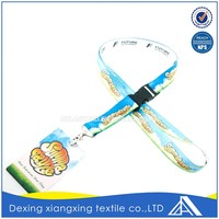 Soft Polyester Sublimation Id Card Holder/ Neck Strap Lanyard