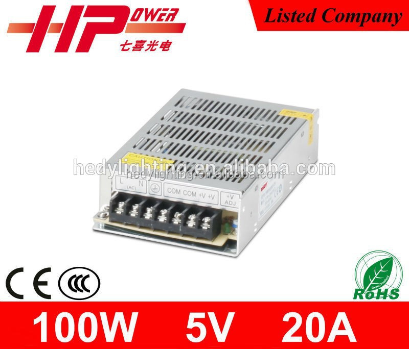 Professional factory outlet rohs power supply single output constant voltage 100w smps 5v 12v 24v