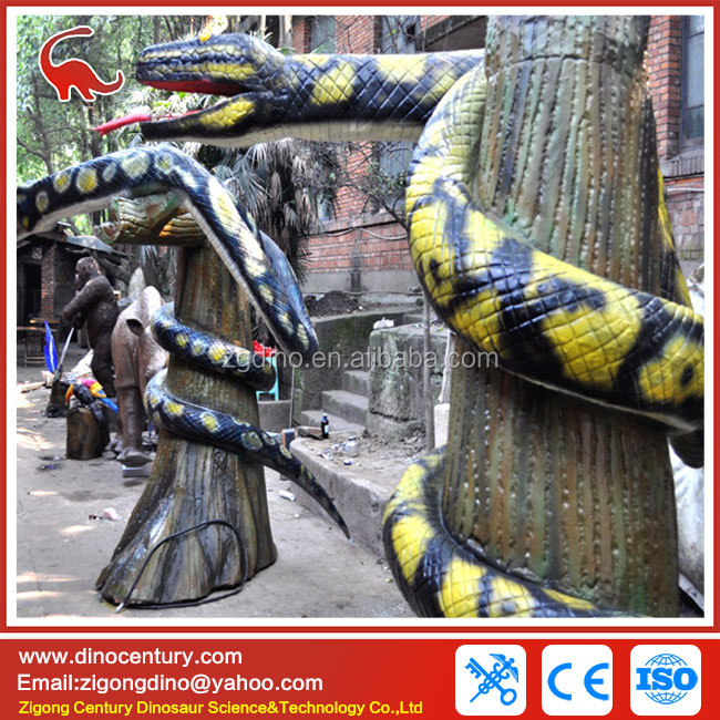 simulation animal life size theme park robotic snake for sale