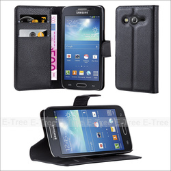 Flip Book Style Leather Cellphone Case for Samsung Galaxy Core Lte