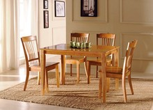 room wooden dining table and chair