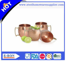 High quality antique hammered Copper Moscow Mule Mug - 100% Pure Copper mug