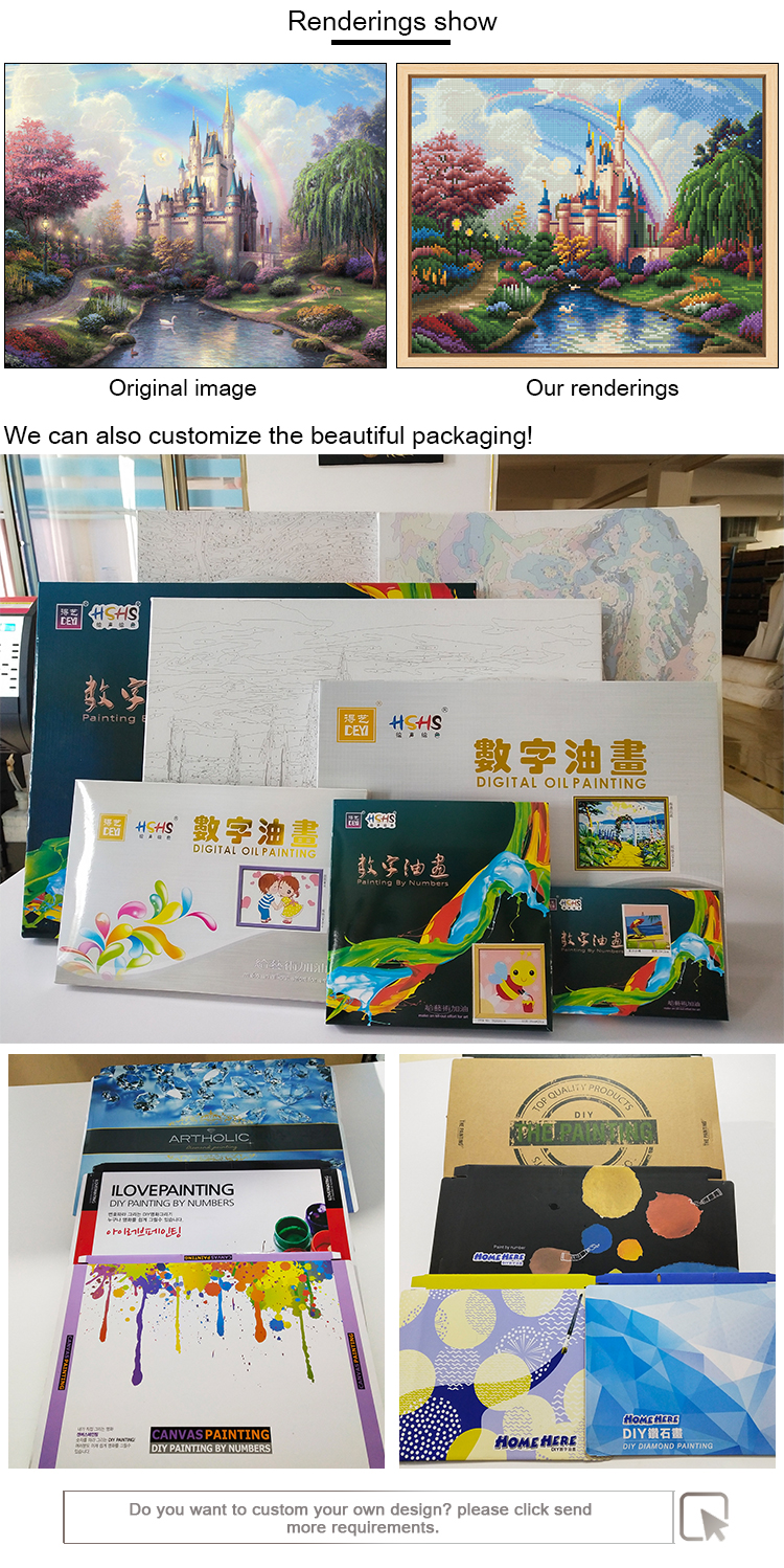 Best selling eco-friendly handmade natural scenery painting